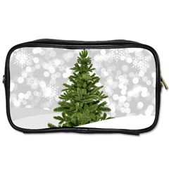 Christmas Xmas Tree Bokeh Toiletries Bags