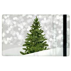 Christmas Xmas Tree Bokeh Apple Ipad 3/4 Flip Case by Simbadda