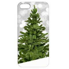 Christmas Xmas Tree Bokeh Apple Iphone 5 Hardshell Case With Stand