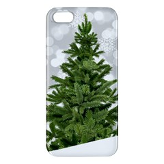 Christmas Xmas Tree Bokeh Apple Iphone 5 Premium Hardshell Case by Simbadda