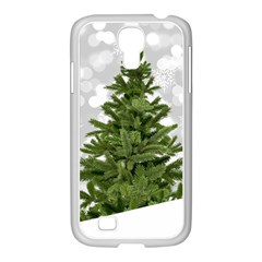 Christmas Xmas Tree Bokeh Samsung Galaxy S4 I9500/ I9505 Case (white)