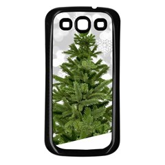 Christmas Xmas Tree Bokeh Samsung Galaxy S3 Back Case (black)