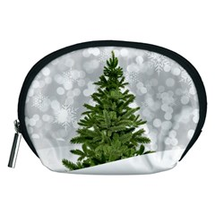 Christmas Xmas Tree Bokeh Accessory Pouches (medium)