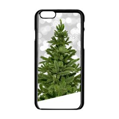 Christmas Xmas Tree Bokeh Apple Iphone 6/6s Black Enamel Case
