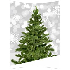 Christmas Xmas Tree Bokeh Back Support Cushion by Simbadda