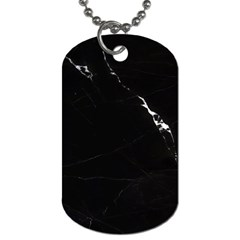 Black Marble Tiles Rock Stone Statues Dog Tag (one Side)