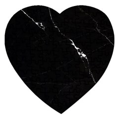 Black Marble Tiles Rock Stone Statues Jigsaw Puzzle (heart)