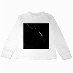 Black Marble Tiles Rock Stone Statues Kids Long Sleeve T Shirts
