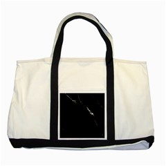 Black Marble Tiles Rock Stone Statues Two Tone Tote Bag