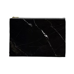 Black Marble Tiles Rock Stone Statues Cosmetic Bag (large)