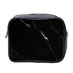 Black Marble Tiles Rock Stone Statues Mini Toiletries Bag 2 Side