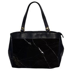 Black Marble Tiles Rock Stone Statues Office Handbags (2 Sides)