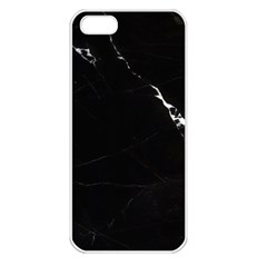 Black Marble Tiles Rock Stone Statues Apple Iphone 5 Seamless Case (white)