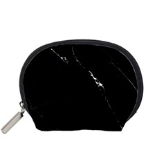 Black Marble Tiles Rock Stone Statues Accessory Pouches (small)
