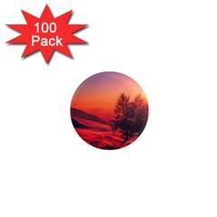 Italy Sunrise Sky Clouds Beautiful 1  Mini Magnets (100 Pack)