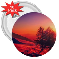Italy Sunrise Sky Clouds Beautiful 3  Buttons (10 Pack)