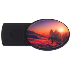 Italy Sunrise Sky Clouds Beautiful Usb Flash Drive Oval (2 Gb)