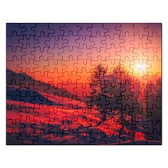 Italy Sunrise Sky Clouds Beautiful Rectangular Jigsaw Puzzl