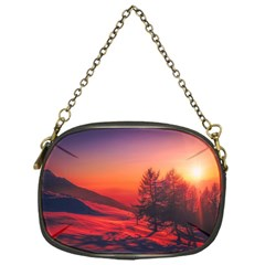Italy Sunrise Sky Clouds Beautiful Chain Purses (one Side)