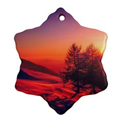 Italy Sunrise Sky Clouds Beautiful Ornament (snowflake)