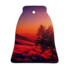Italy Sunrise Sky Clouds Beautiful Ornament (bell)