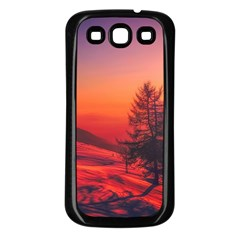 Italy Sunrise Sky Clouds Beautiful Samsung Galaxy S3 Back Case (black)