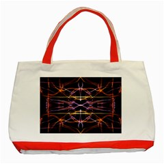 Wallpaper Abstract Art Light Classic Tote Bag (red)