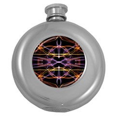 Wallpaper Abstract Art Light Round Hip Flask (5 Oz)