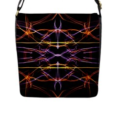 Wallpaper Abstract Art Light Flap Messenger Bag (l)