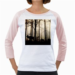 Forest Fog Hirsch Wild Boars Girly Raglans