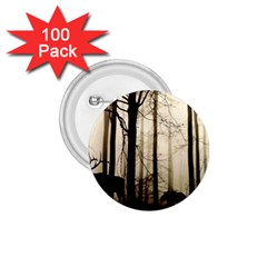 Forest Fog Hirsch Wild Boars 1 75  Buttons (100 Pack)