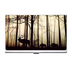 Forest Fog Hirsch Wild Boars Business Card Holders