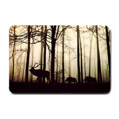 Forest Fog Hirsch Wild Boars Small Doormat