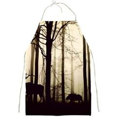 Forest Fog Hirsch Wild Boars Full Print Aprons