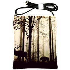 Forest Fog Hirsch Wild Boars Shoulder Sling Bags