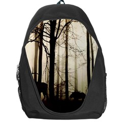 Forest Fog Hirsch Wild Boars Backpack Bag