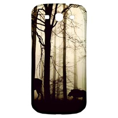 Forest Fog Hirsch Wild Boars Samsung Galaxy S3 S Iii Classic Hardshell Back Case