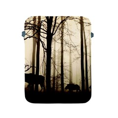 Forest Fog Hirsch Wild Boars Apple Ipad 2/3/4 Protective Soft Cases