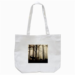 Forest Fog Hirsch Wild Boars Tote Bag (white)