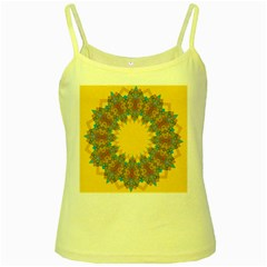 Star Quilt Pattern Squares Yellow Spaghetti Tank