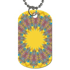 Star Quilt Pattern Squares Dog Tag (one Side)