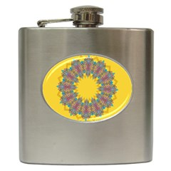 Star Quilt Pattern Squares Hip Flask (6 Oz)