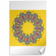 Star Quilt Pattern Squares Canvas 20  X 30