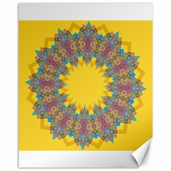 Star Quilt Pattern Squares Canvas 11  X 14
