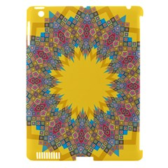 Star Quilt Pattern Squares Apple Ipad 3/4 Hardshell Case (compatible With Smart Cover)