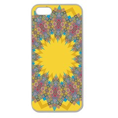 Star Quilt Pattern Squares Apple Seamless Iphone 5 Case (clear)
