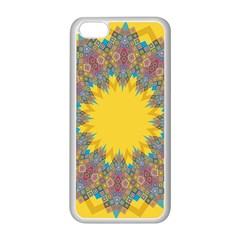Star Quilt Pattern Squares Apple Iphone 5c Seamless Case (white)