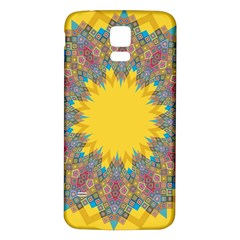 Star Quilt Pattern Squares Samsung Galaxy S5 Back Case (white)