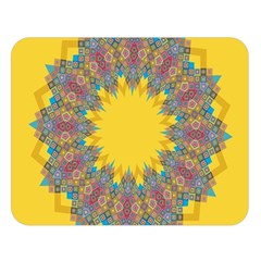 Star Quilt Pattern Squares Double Sided Flano Blanket (large)