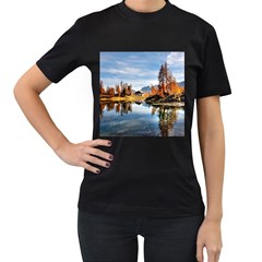 Dolomites Mountains Italy Alpine Women s T Shirt (black) (two Sided)